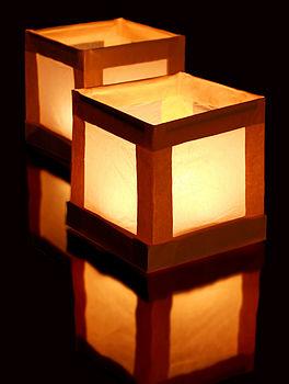 paper water lanterns