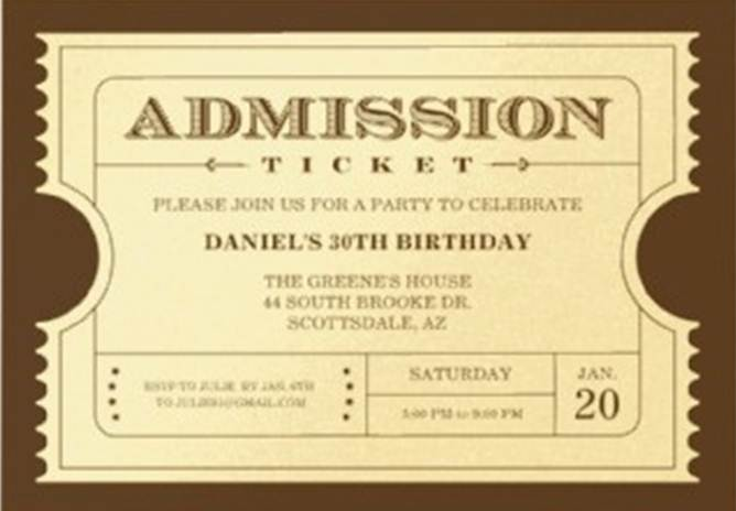 golden ticket invitations