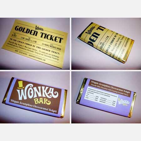 Wonka Bar invitation