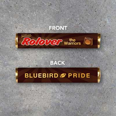 Rolo candy bar invitation