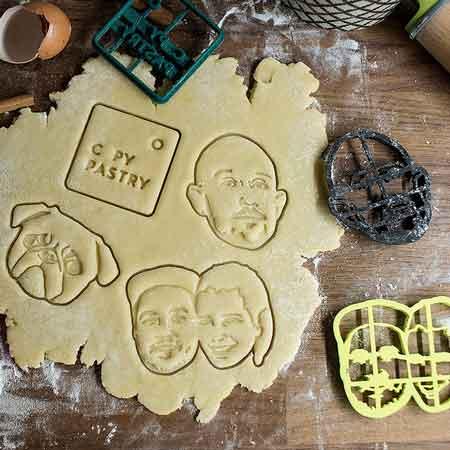 custom portrait cookie cutter