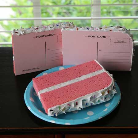 cake postcard