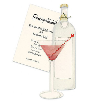 martini invitations