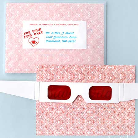 anaglyph 3D invitations