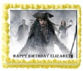 pirates edible image