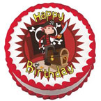 pirate edible cake image