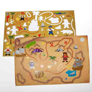 treasure map stickers