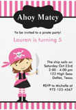 girl pirate invitations
