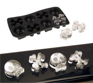 skull and crossbone ice cubes