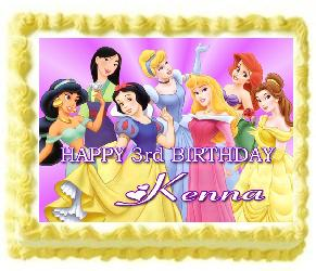 princess edible cake image