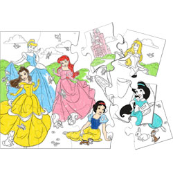 princess coloring jigsaw