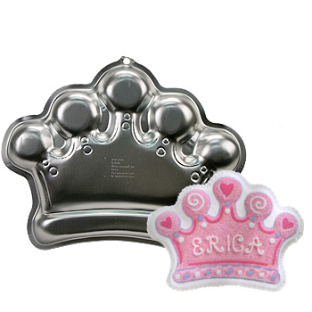 princess crown baking pan