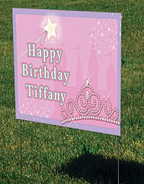 princess yard sign