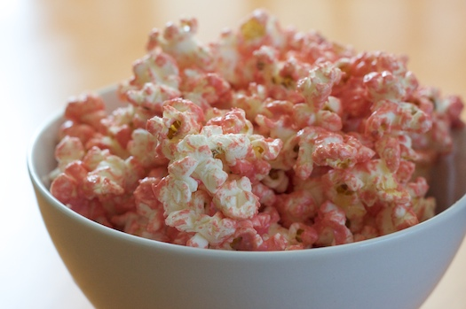 princess party ideas pink popcorn