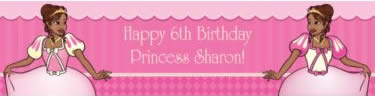 personalized african american princess banner
