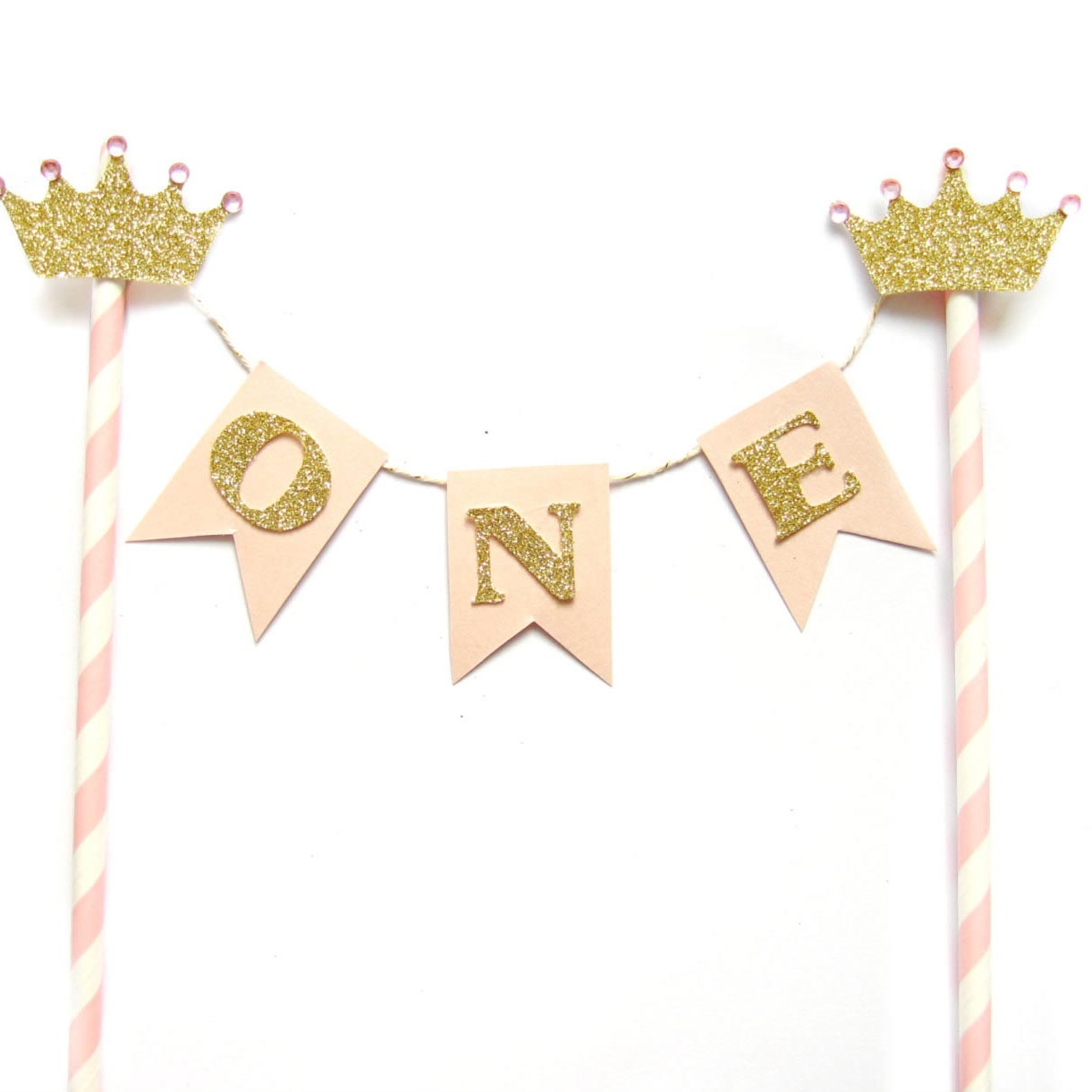 princess first birthday cake topper