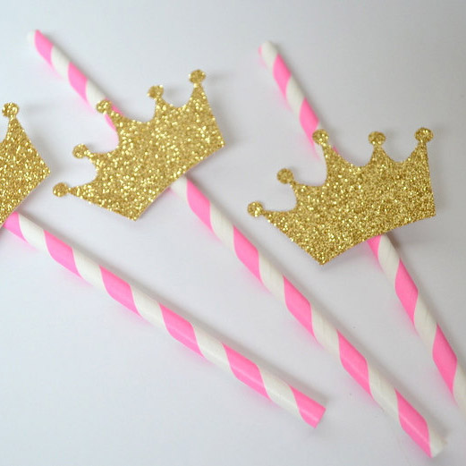 princess party straws