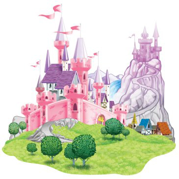 princess castle scene setter add ons