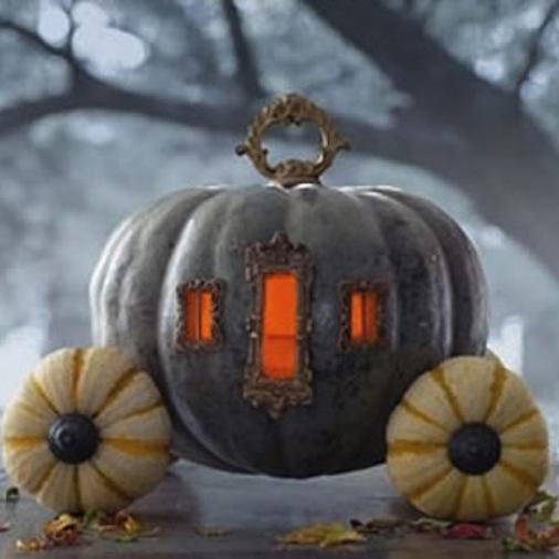 pumpkin carriage centerpiece