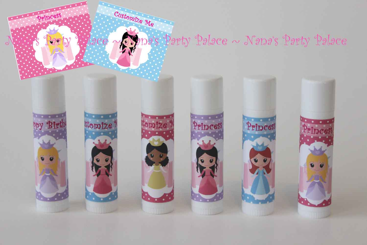 personalized princess lip balm