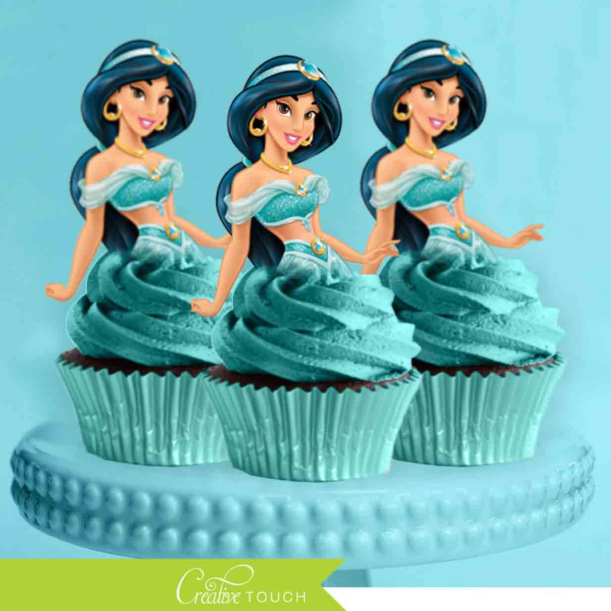 disney princess cupcake topper princess jasmine