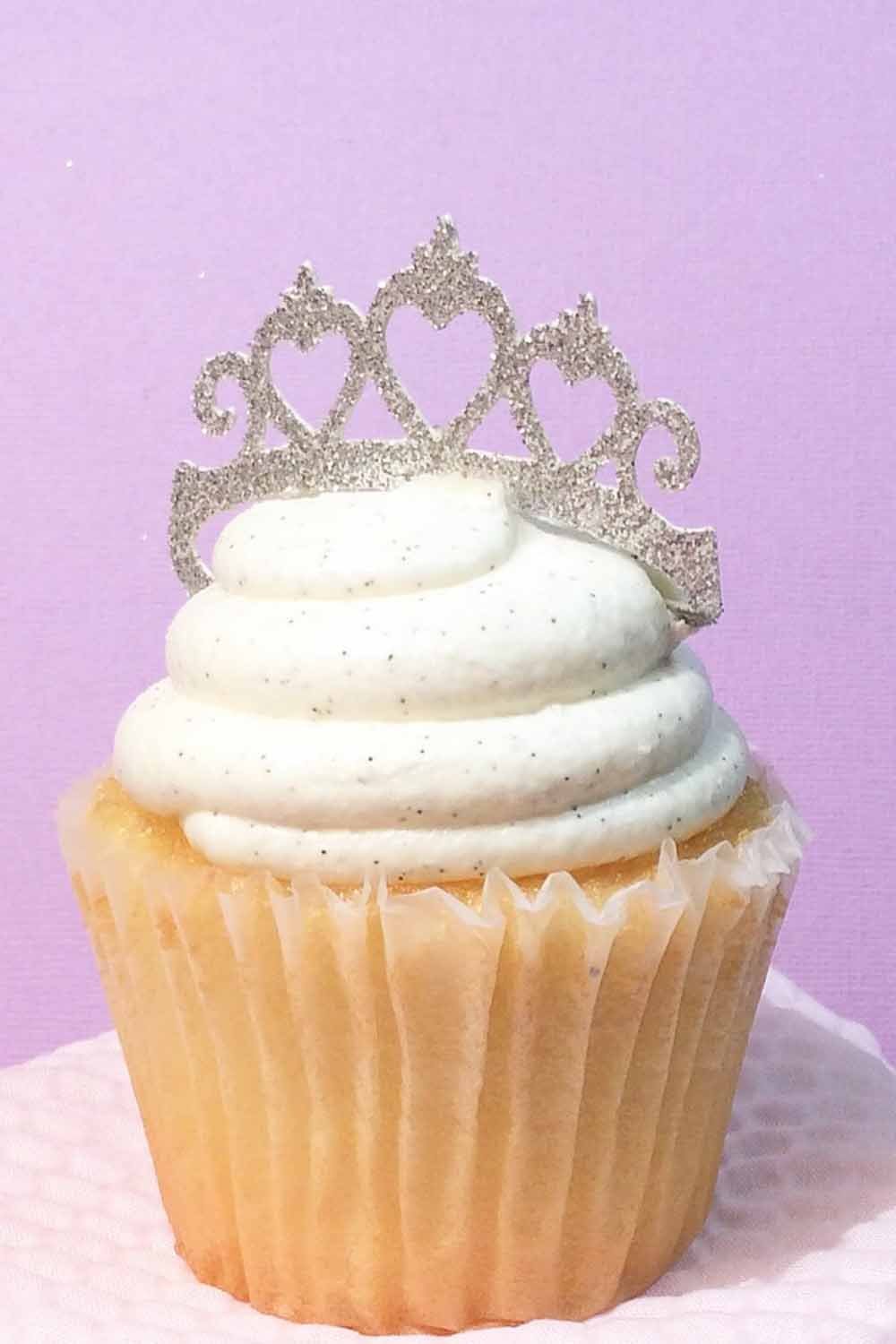 princess tiara cupcake topper