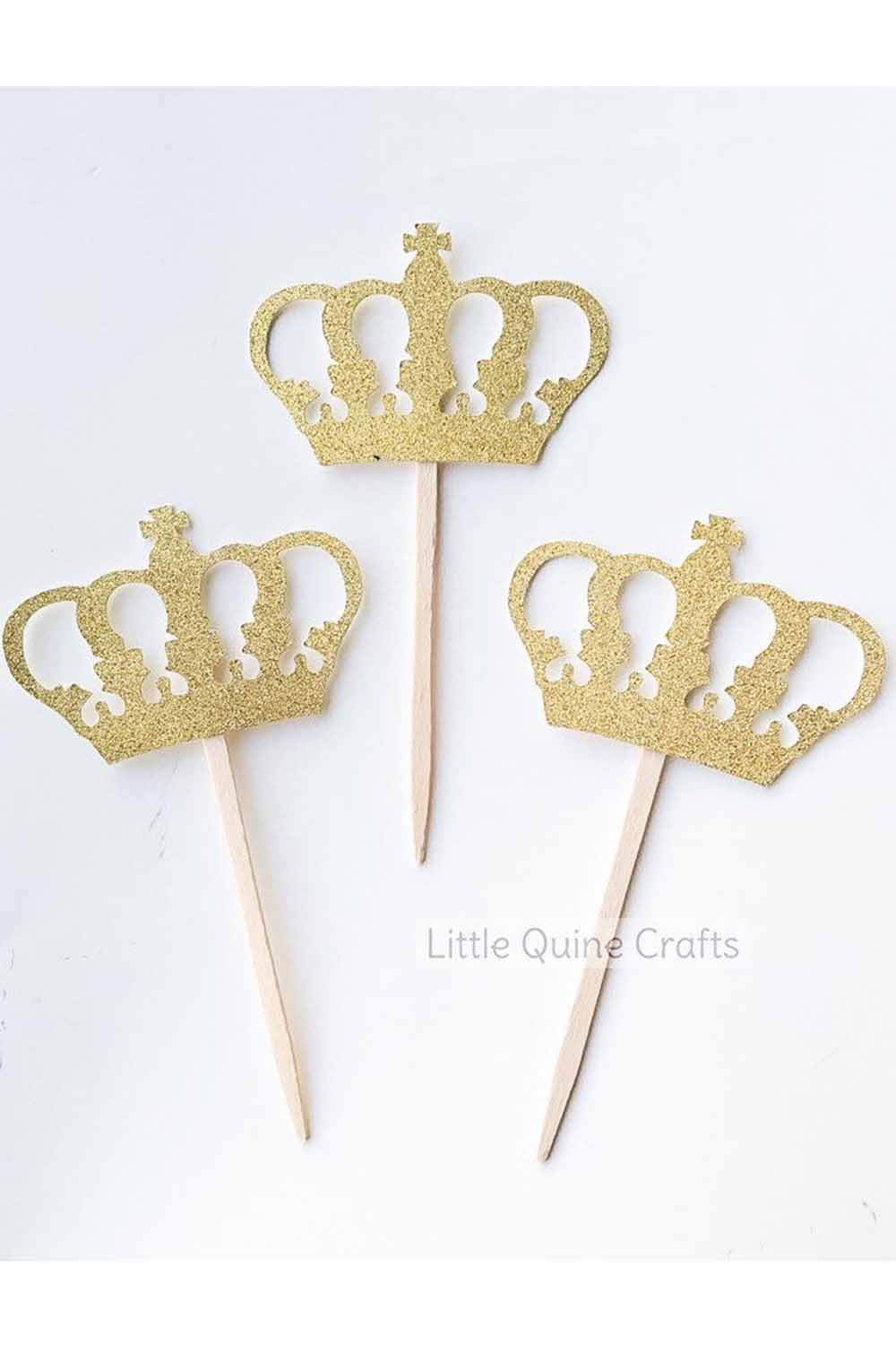 princess crown cupcake topper