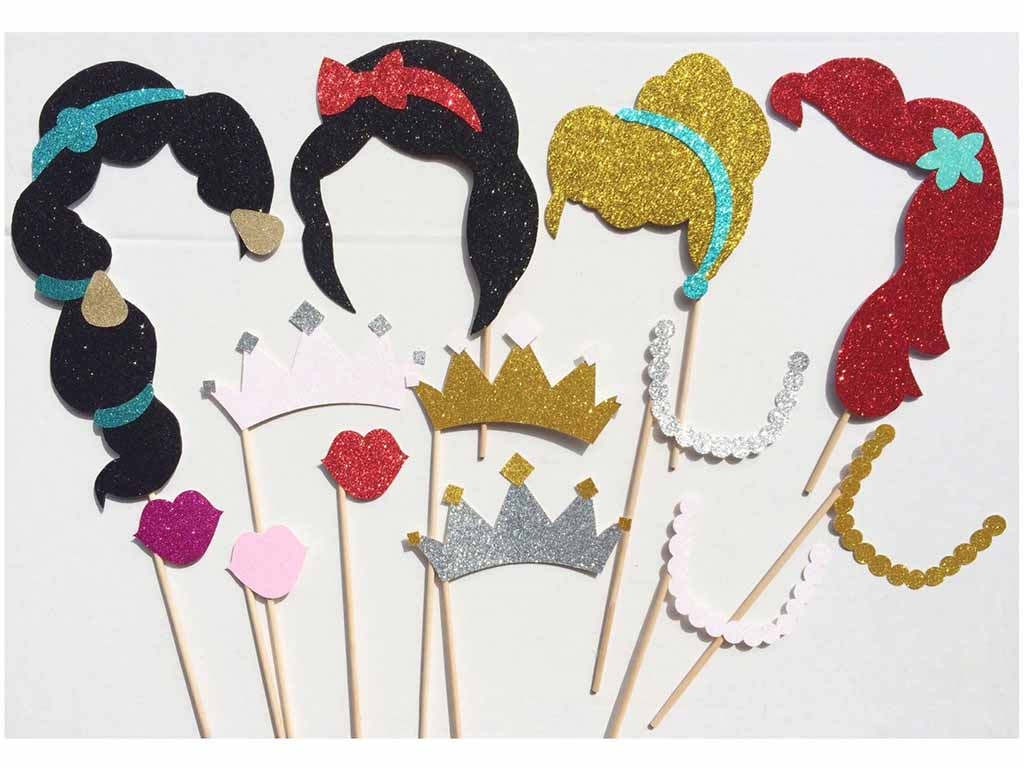 disney princess photobooth props