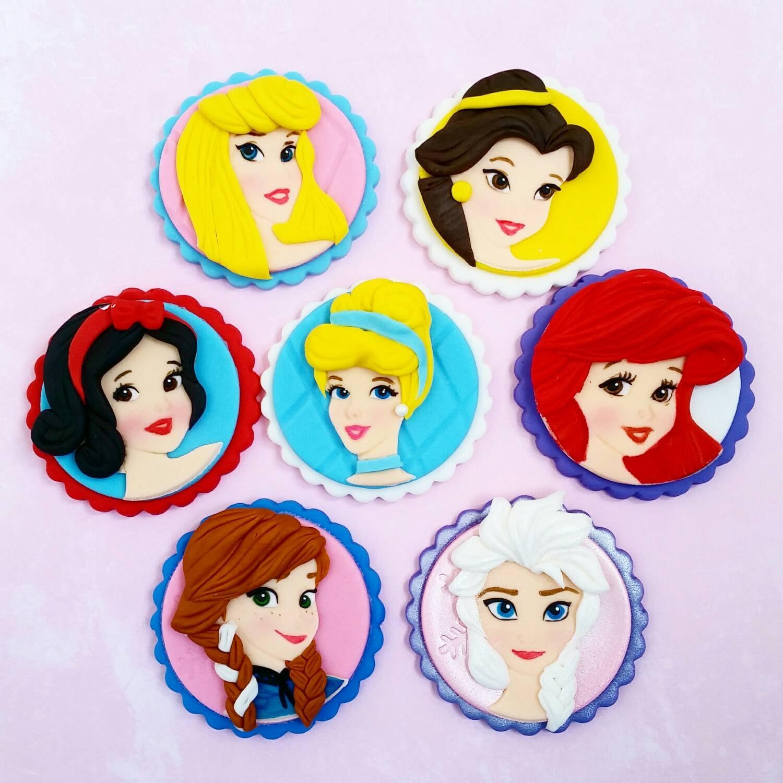 princess edible cake toppers