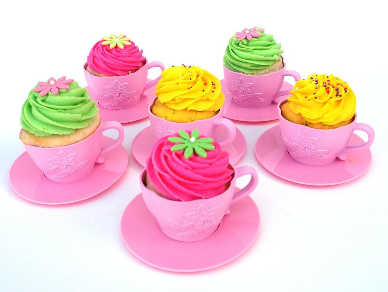 tea cup cupcake molds