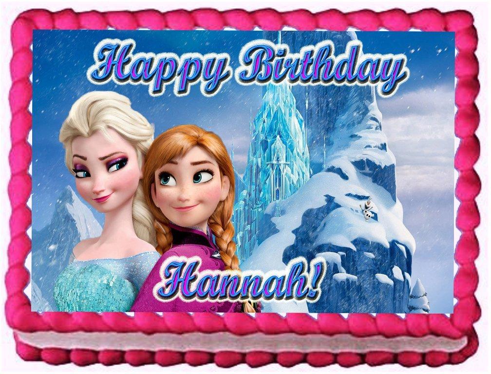 princess edible cake image topper