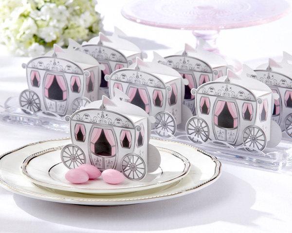 princess carriage favor box
