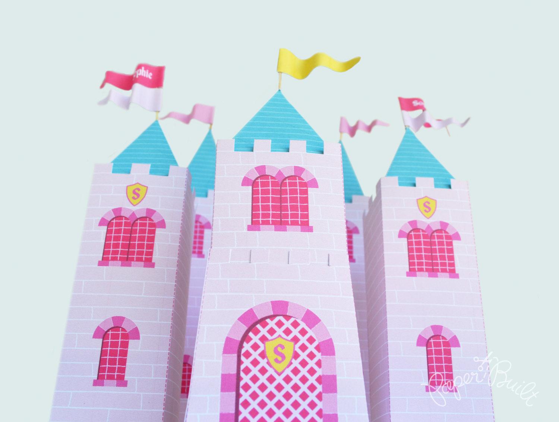 princess castle favor box