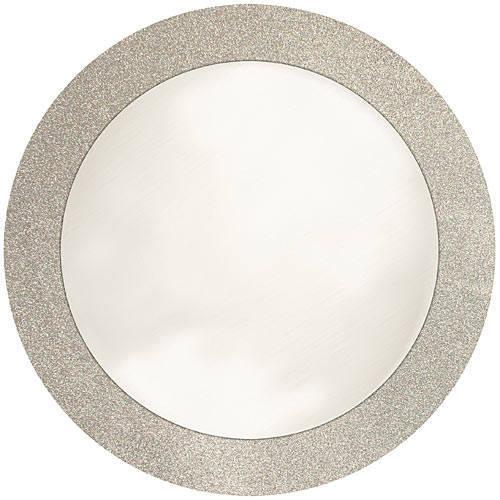 silver glitter rim plate