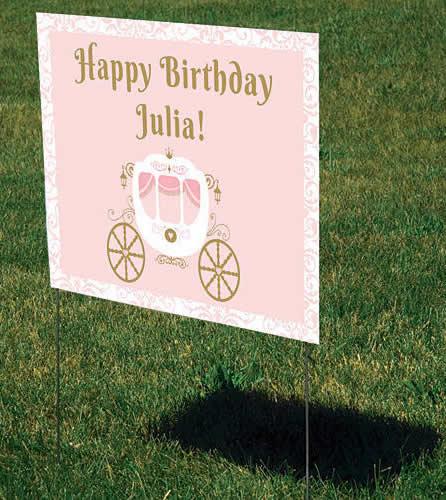 princess yard sign