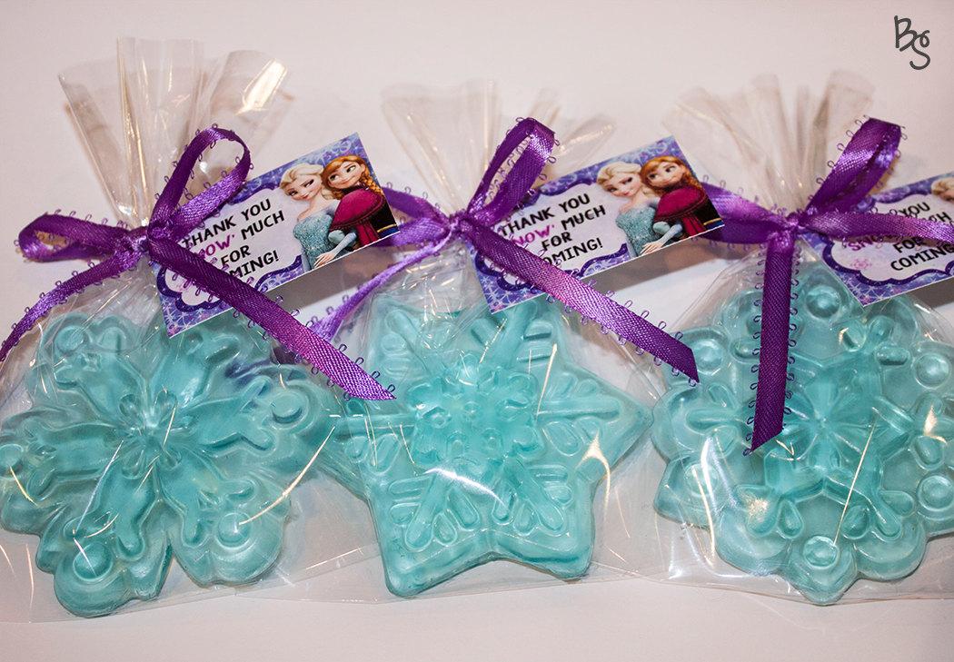 disney frozen snowflake soaps