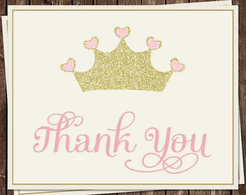 princess thank you notes