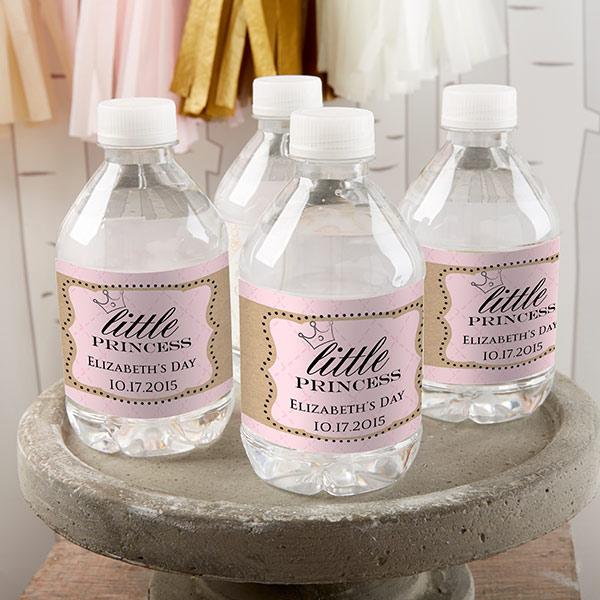 princess water labels