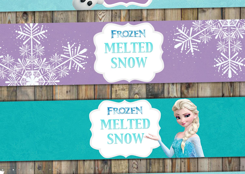 Frozen water labels