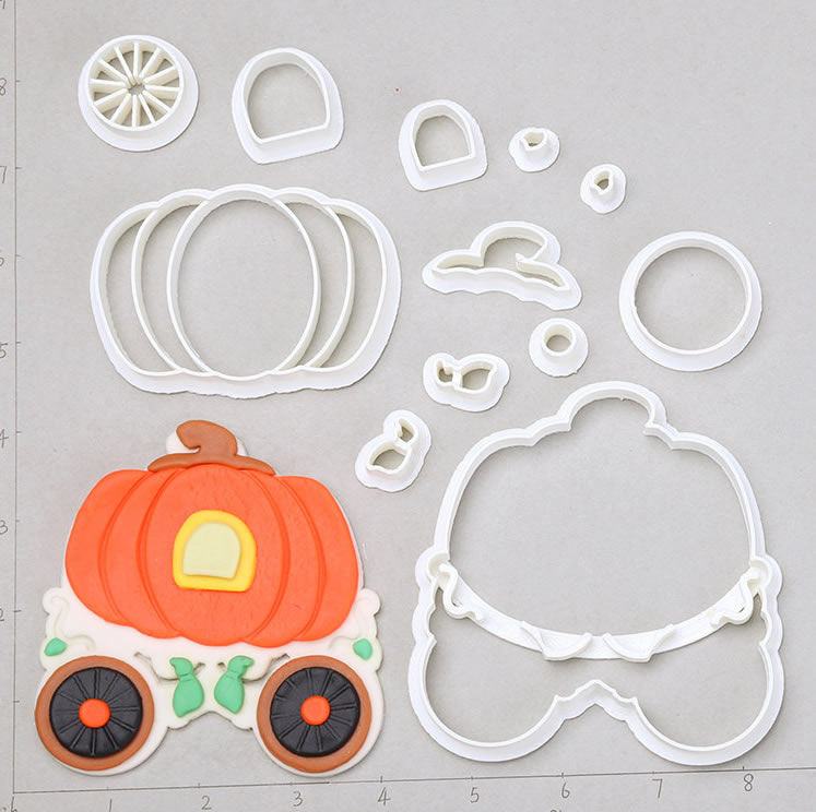 pumpkin carriage cookie cutter