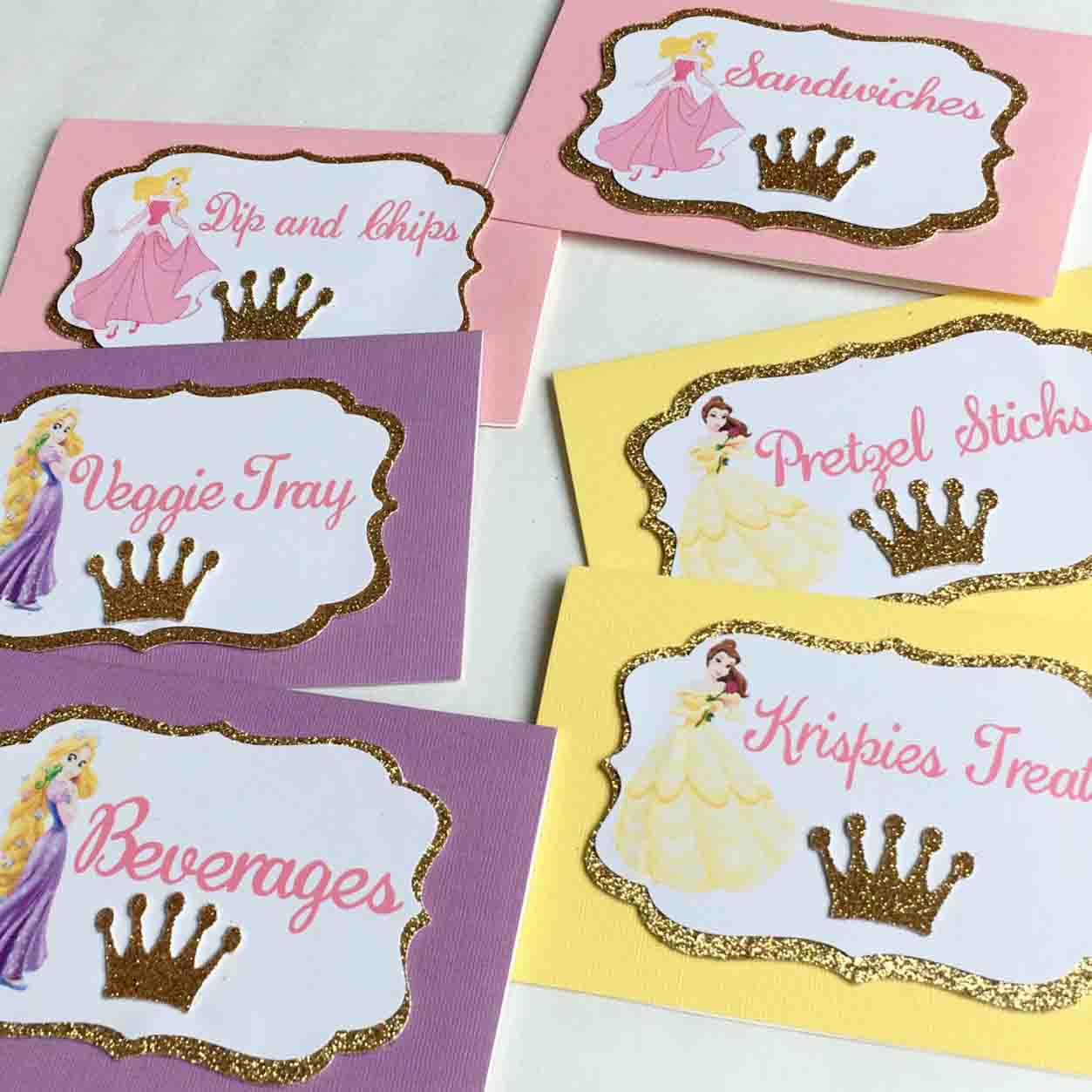 princess food tent cards