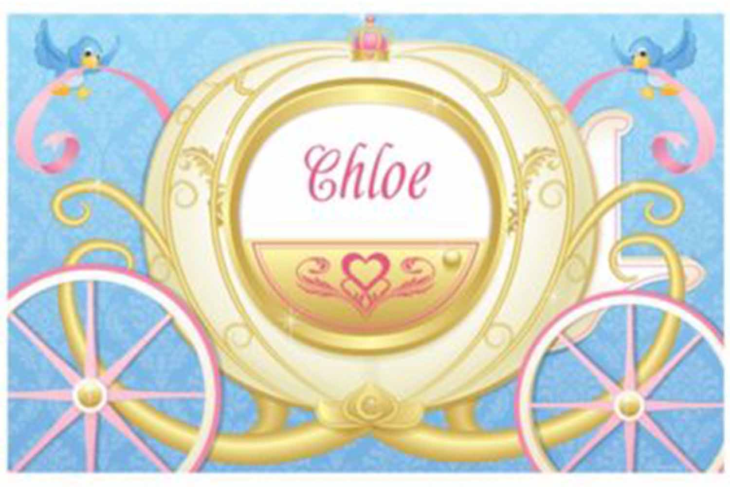 personalized princess placemats