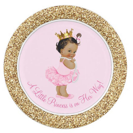 personalized princess party plates