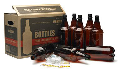plastic beer bottles