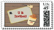 hillbilly postage stamps