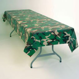 camouflage table cover cloth