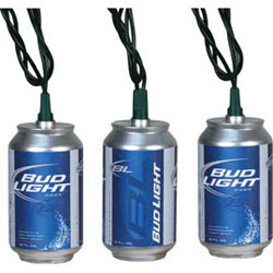 bud beer can string lights