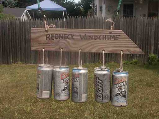 redneck wind chimes