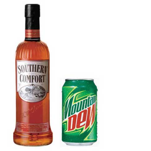 southern comfort and mountain dew