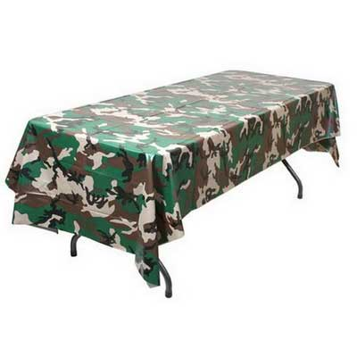 redneck party decorations camouflage tablecover